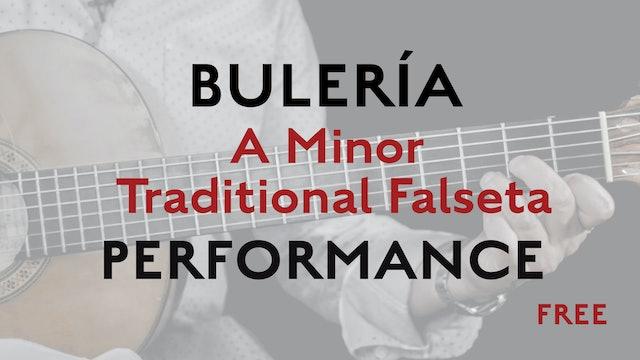Friday Falseta - Buleria - A Minor Traditional Falseta - Performance - FREE