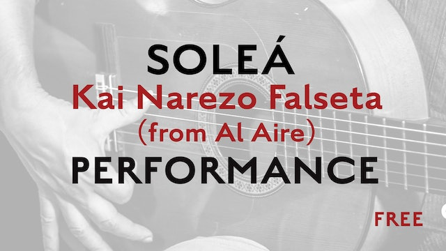 Friday Falseta - Solea - Kai Narezo Falseta (from Al Aire) - Performance