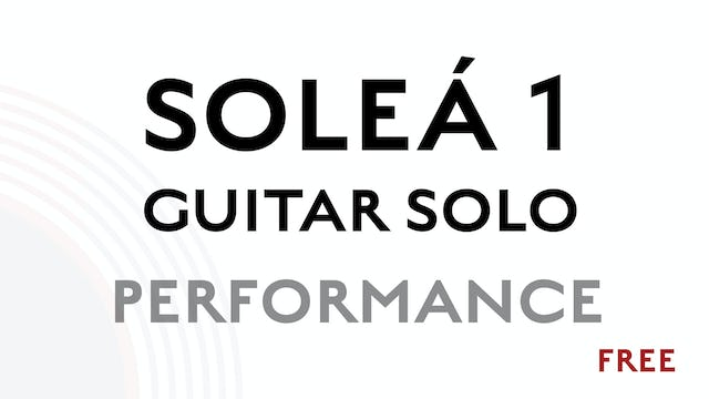 Solea Guitar Solo 1 - Performance
