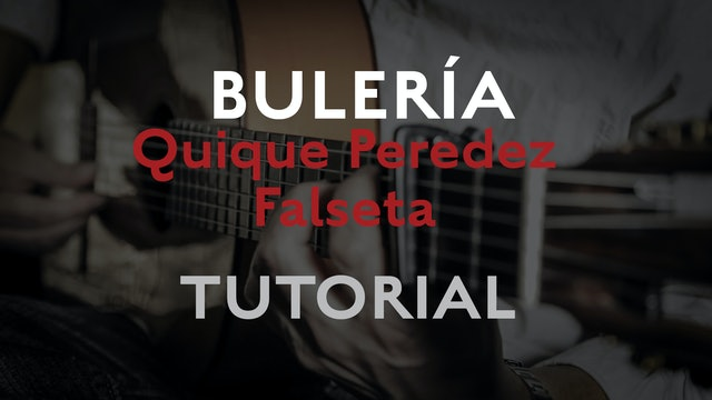 Friday Falseta - Bulerias falseta by Quique Peredez - Tutorial
