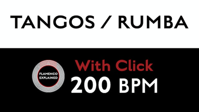 Compás Loops - Tangos/Rumba - 200 BPM - With Click