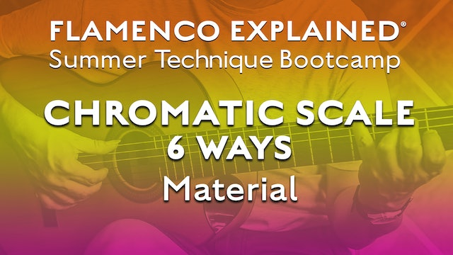 Technique Bootcamp - Chromatic Scale Six Ways Material