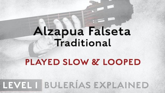 Bulerias Explained - Level 1 - Alzapua Falseta Traditional - SLOW & LOOPED
