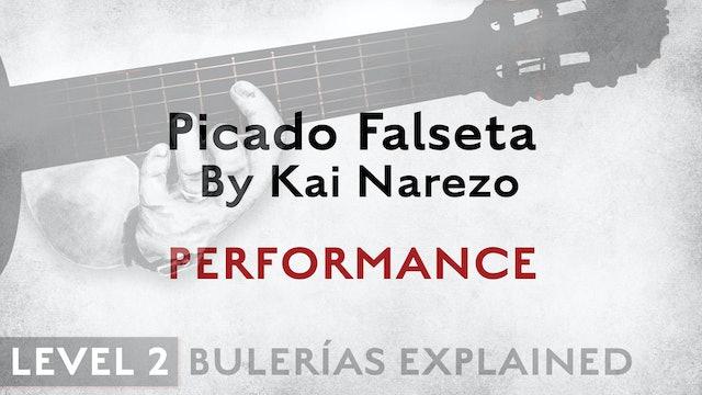 Bulerias Explained - Level 2 - Picado Falseta by Kai Narezo - PERFORMANCE