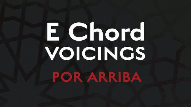 E Chord Voicings