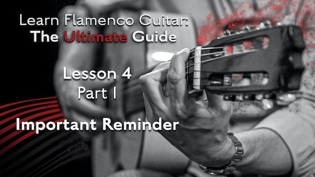 Lesson 4 - Part 1 - Important Reminder