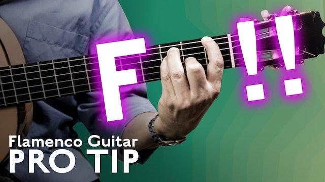 F Chord - Flamenco Guitar Pro Tip