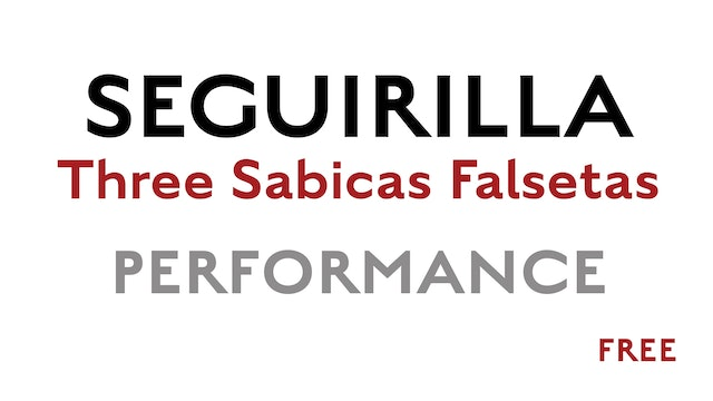 Friday Falseta - Seguirilla - Three Sabicas Falsetas Performance - FREE