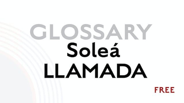 Llamada for Solea - Glossary Term