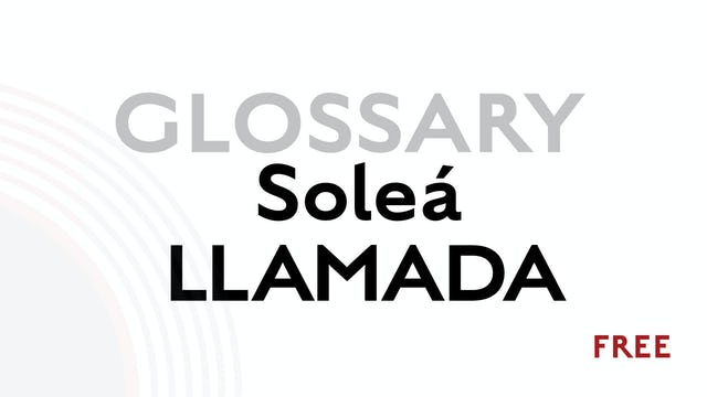 Llamada for Solea - Glossary Term