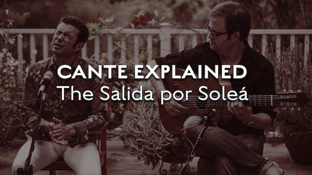 Cante Explained -  Solea - The Salida