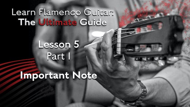 Lesson 5 - Part 1 - Important Note