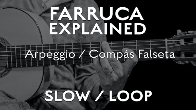 Farruca Explained - Arpeggio/ Compás Falseta - SLOW / LOOP