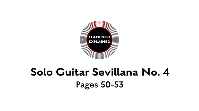 Solo Guitar Sevillana No. 4 Pages 50-53