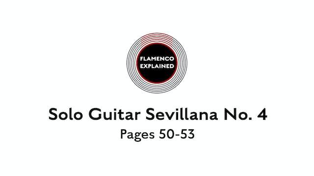 Solo Guitar Sevillana No. 4 Pages 50-53