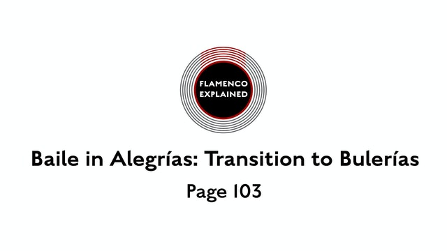 Alegrias Baile Transition to Bulerias Page 103