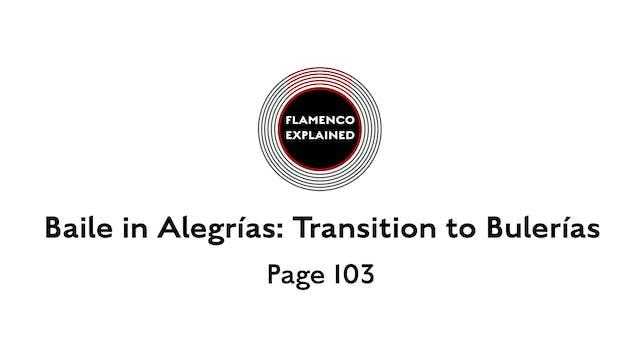 Alegrias Baile Transition to Bulerias...