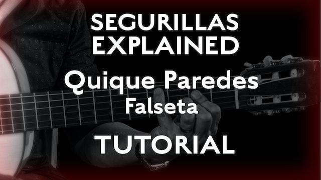 Seguirillas Explained - Quique Paredes Falseta - TUTORIAL