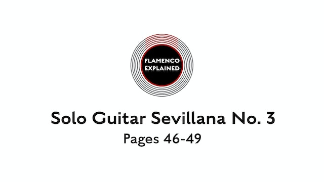 Solo Guitar Sevillana No. 3 Pages 46-49