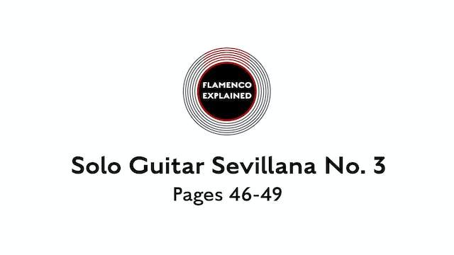 Solo Guitar Sevillana No. 3 Pages 46-49