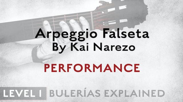 Bulerias Explained - Level 1 - Arpeggio Falseta by Kai Narezo - PERFORMANCE