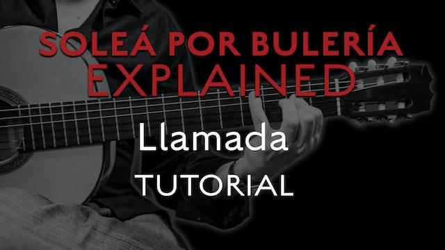 Solea Por Bulerias Explained - Llamada - TUTORIAL