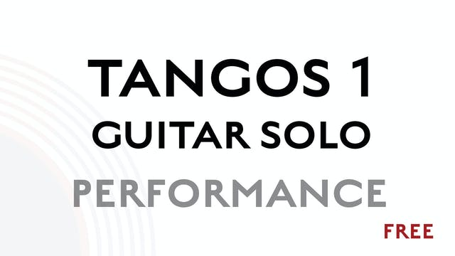Tangos 1 Guitar Solo - Performance