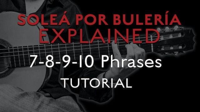 Solea Por Bulerias Explained - 7-8-9-10 Phrases - TUTORIAL
