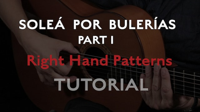 Solea Por Bulerias Right Hand Patterns