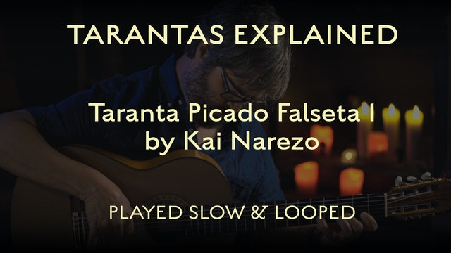Tarantas Explained - Picado Falseta 1 by Kai Narezo - Played Slow & Looped