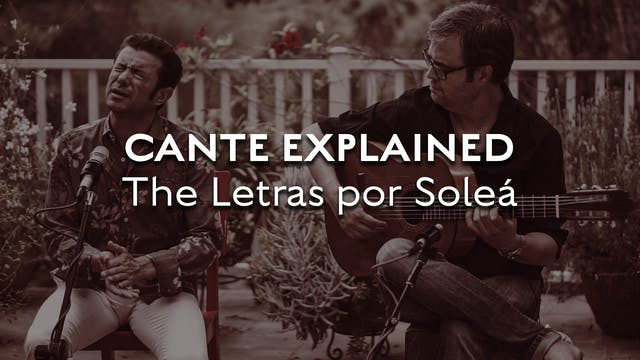 Cante Explained - Solea - The Letra