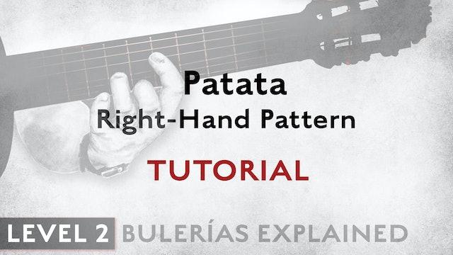 Bulerias Explained - Level 2 - Patata Right hand Pattern - TUTORIAL
