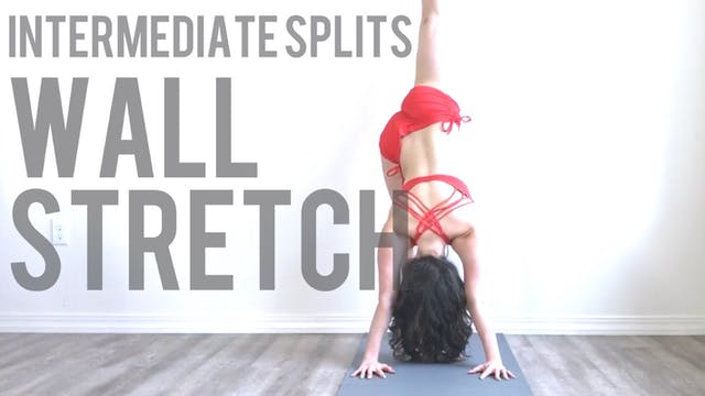 Intermediate Splits Wall Stretch