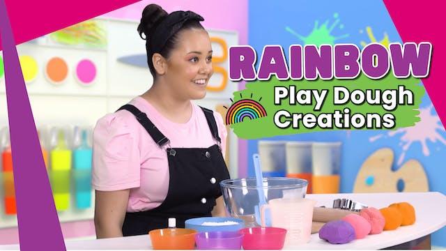 Rainbow Play Dough Creations