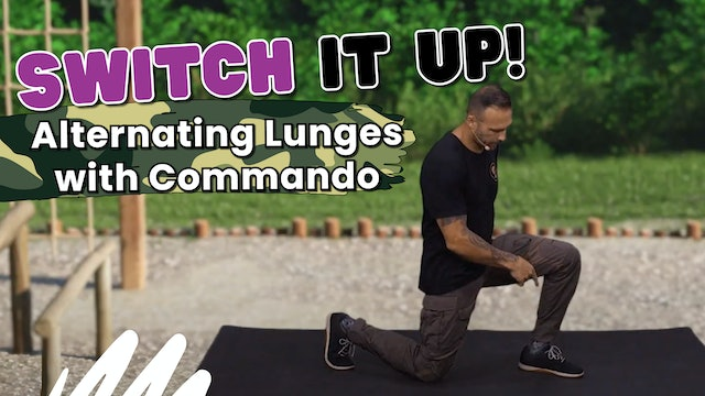 Learning How To Do Alternating Lunges