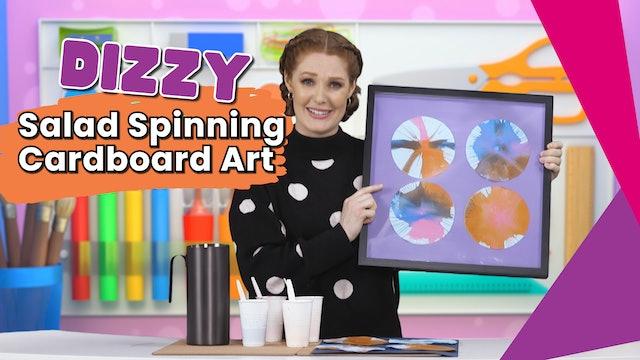 Dizzy Salad Spinning Cardboard Art