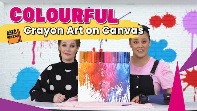Colourful Crayon Art on Canvas