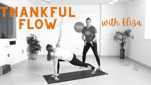 THU 11/26 | 10:00AM EST | Thankful Flow with Eliza