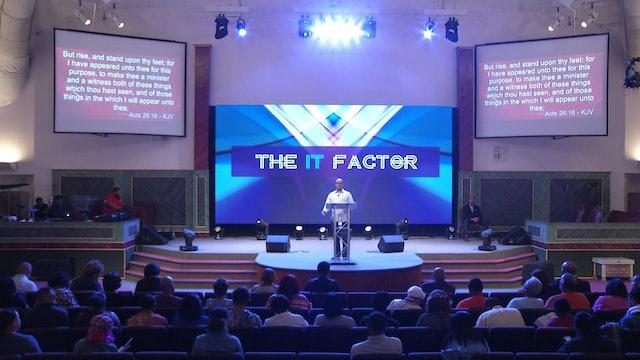 11.1.17 Dr Herbert Bailey The It Factor Pt 4