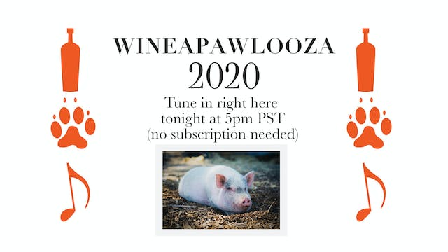 WineaPAWLooza Live Auction, July 25th
