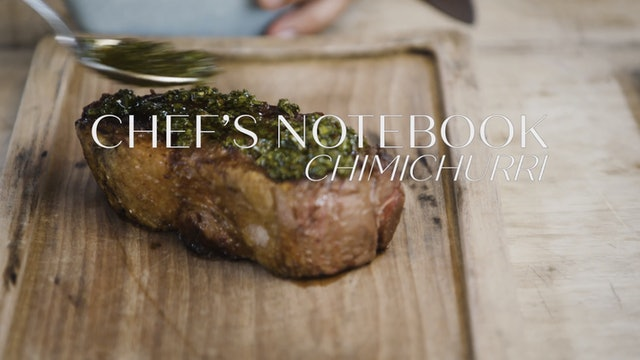 Chef's Notebook: Chimichurri
