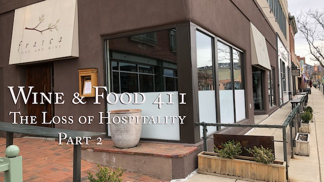 The Loss of Hospitality under Covid-19, part 2