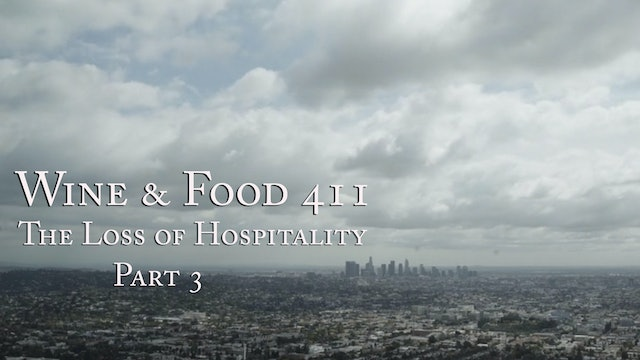 The Loss of Hospitality under Covid-19, part 3