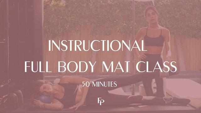 Full Body Instructional Mat Class | 50 min