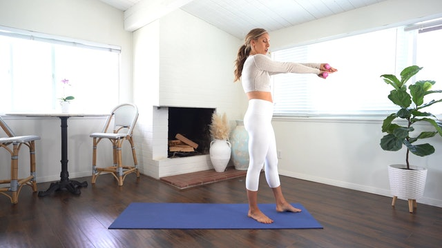 Full Body Flow (Props 1-2 weights, 30 min)