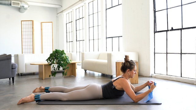 Back Body Connection  (Props: Band and optional ankle weights, 14 min)