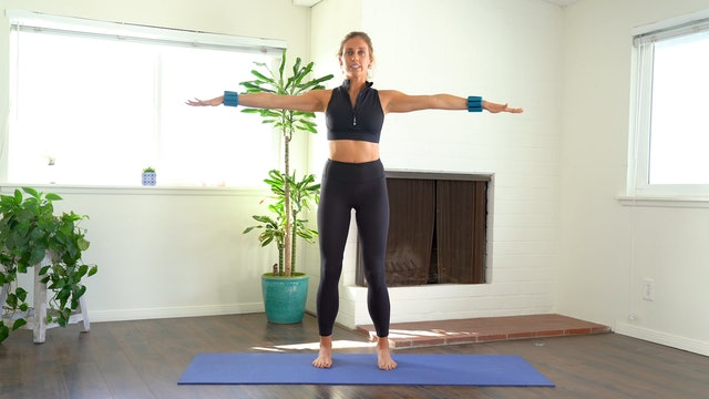 Abs and Arms (props: 1-2 lb weights, 19 min)