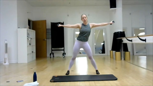 41 min BarreFusion w/Ashley Dance Abs