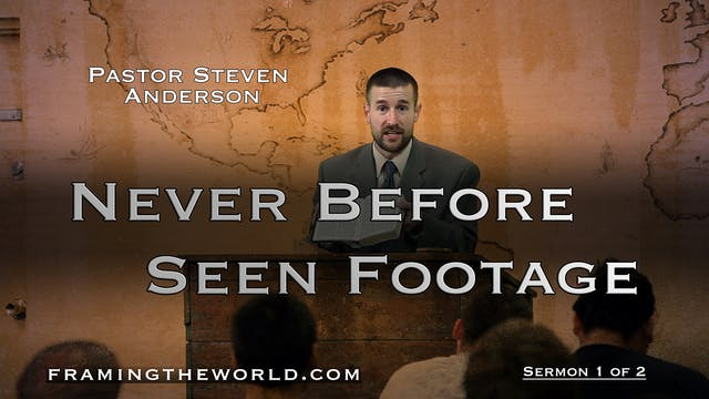 Pastor Steven Anderson: Sermon 1 of 2 (After the Tribulation)