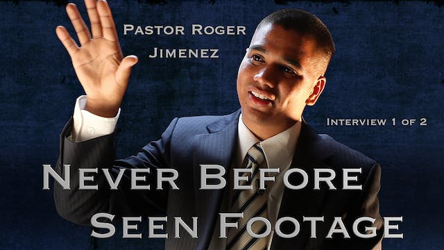 Pastor Roger Jimenez Interview 1 of 2 (After the Tribulation)